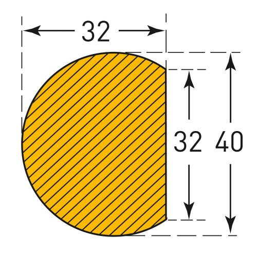 Semi-Circular 40/32 (Self-Adhesive)